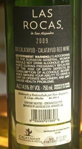 Las Rochas - 2009  DO Calatayud